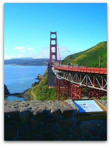 golden gate bridge from the north