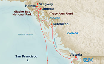 Glacier Bay Cruise Route