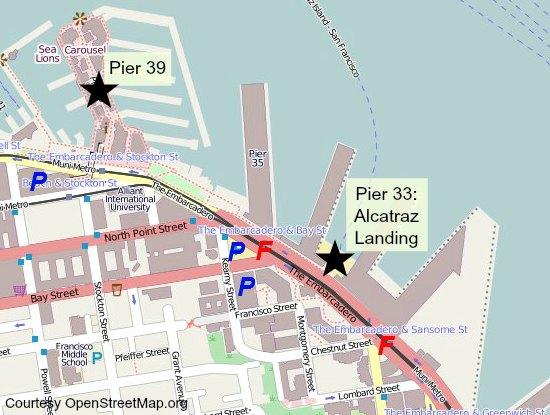 alcatraz ferry map