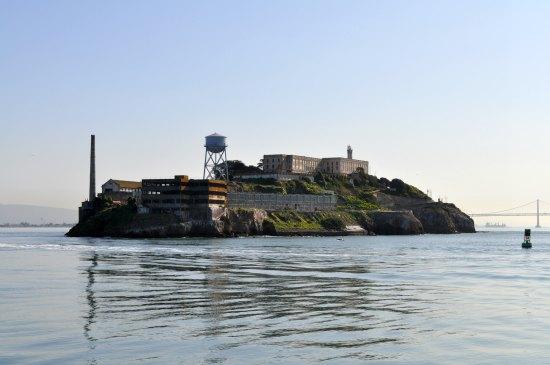 alcatraz island from bay cruise