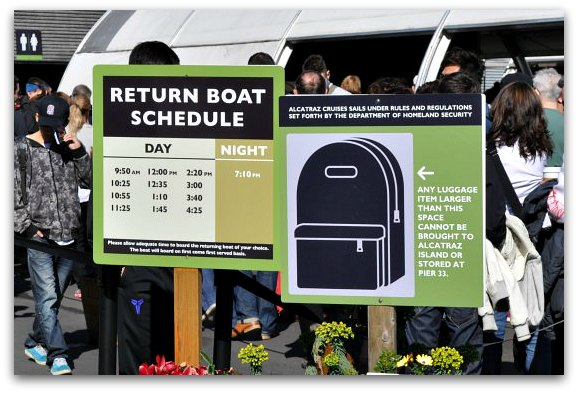 alcatraz return schedule