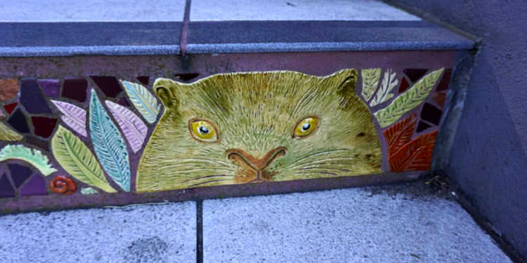 Animal in the Mosaic Stairs
