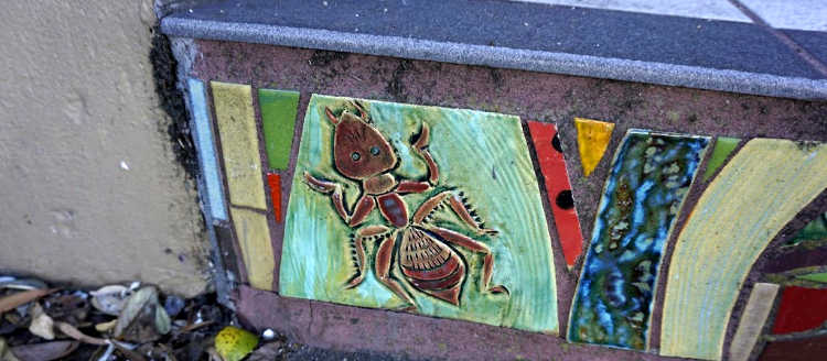 Ant on the Mosaic Steps