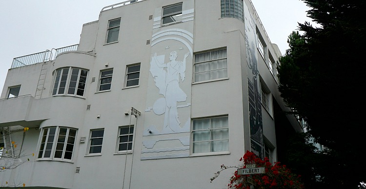 Art Deco Works on a Building in Telegraph Hill
