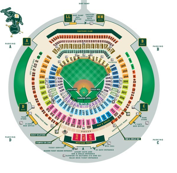 Athletics Seating Chart
