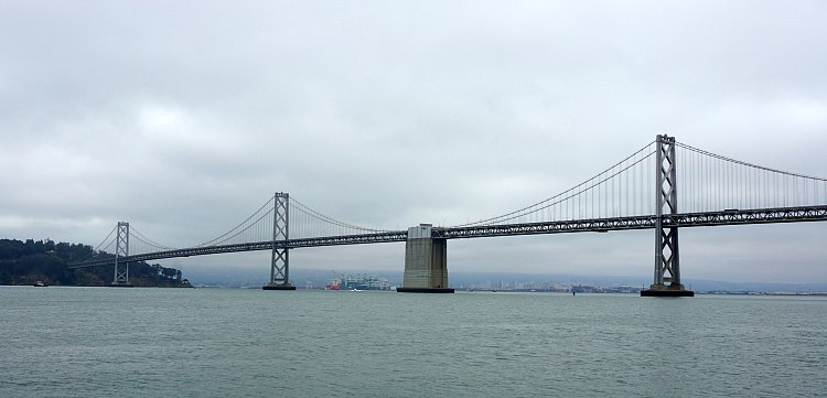Bay Bridge on a Cloudy Day
