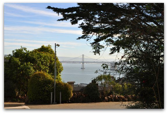 bay bridge from filbert stairs