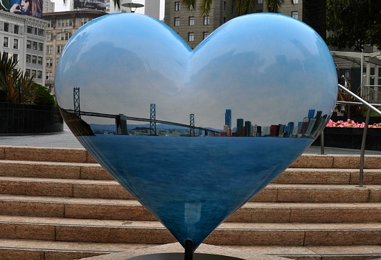 Bay Bridge Heart in SF