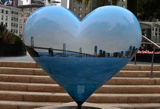 Bay Bridge Heart in SF