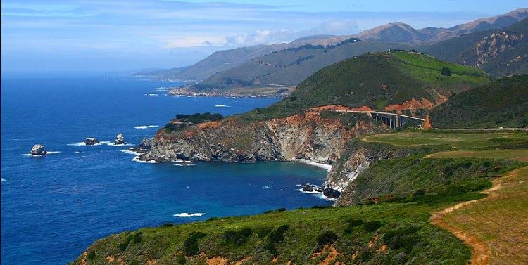 Big Sur Coastline with Bridge