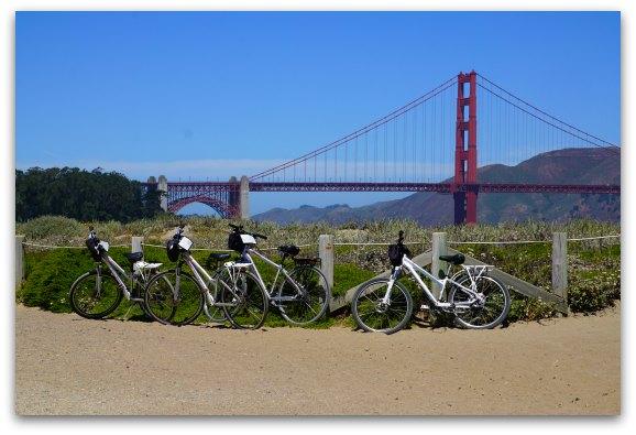 Bike Riding near the Golden Gate Bridge