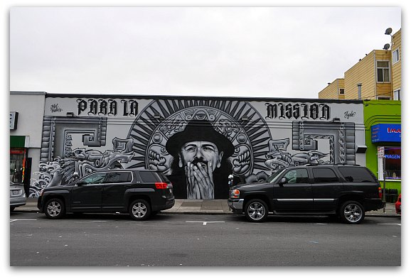 Black & White Mission Mural