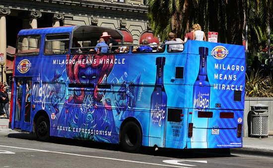 Blue Hop On Hop Off Bus