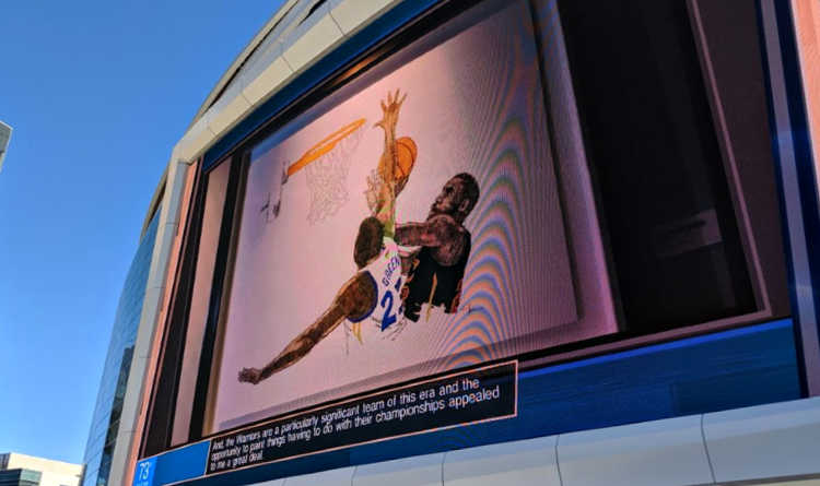 Chase Center Outdoor Screen