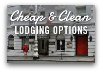 cheap and clean lodging