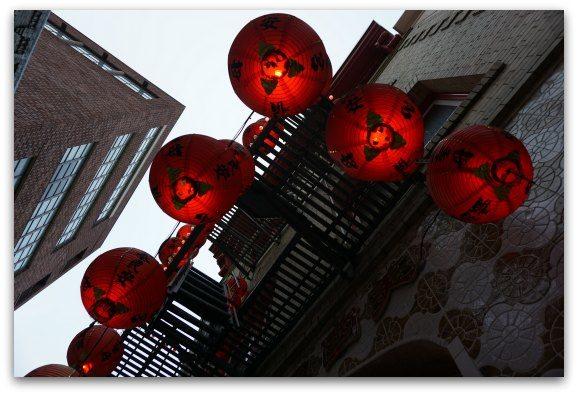Chinatown Lights at Night