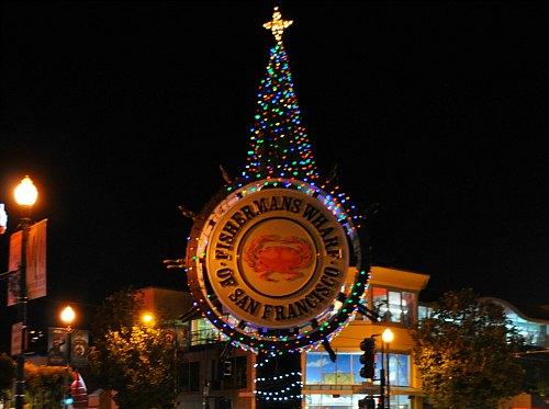 Christmas Lights in Fisherman's Wharf