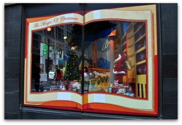 Christmas Window at Macy's in SF
