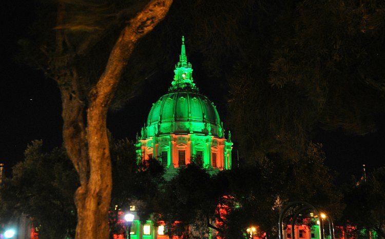 Christmas Lights on City Hall