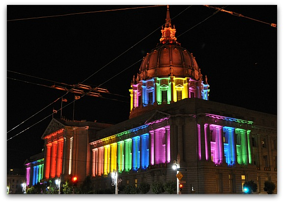LGBTQI SF City Hall Colors