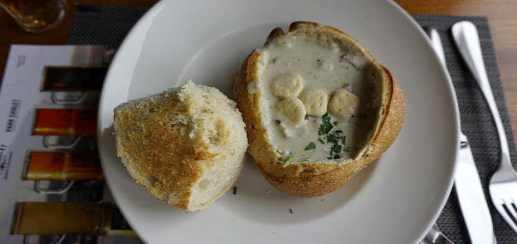 Clam Chowder at Beach Chalet