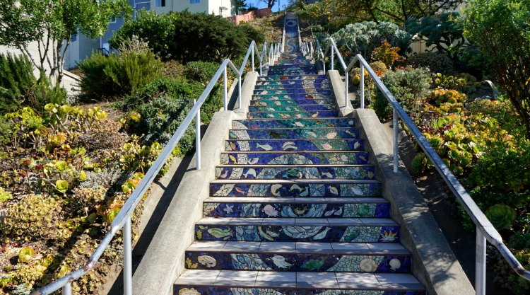 Climbing the 16th Avenue Stairs