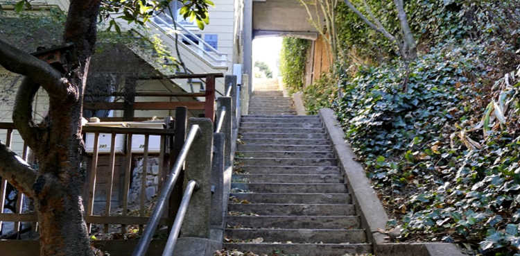 Steps to Coit Tower