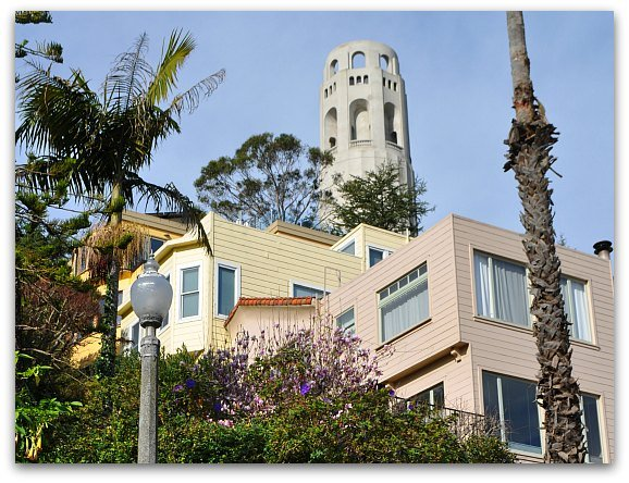 Coit Tower from the Stairs