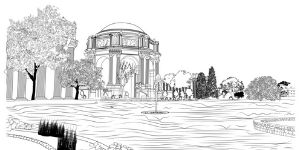 Palace of Fine Arts Coloring Page