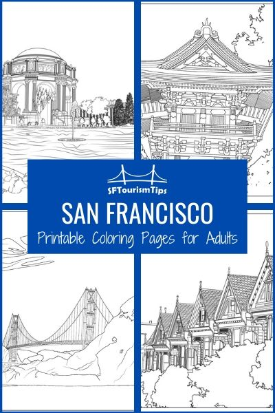 Coloring Pages for Adults: San Francisco Scenes