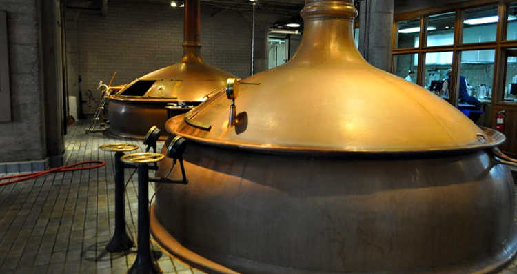 Copper Kettles at Anchor Steam Brewing Company