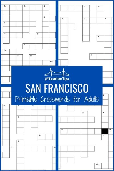 Crossword Puzzles for Adults: All About San Francisco