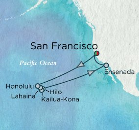 Crystal Hawaii Cruise Route