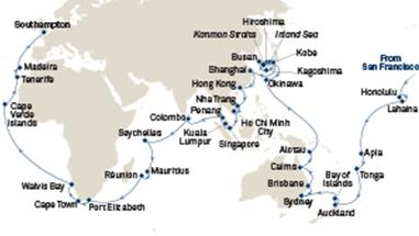 World Cruise Route