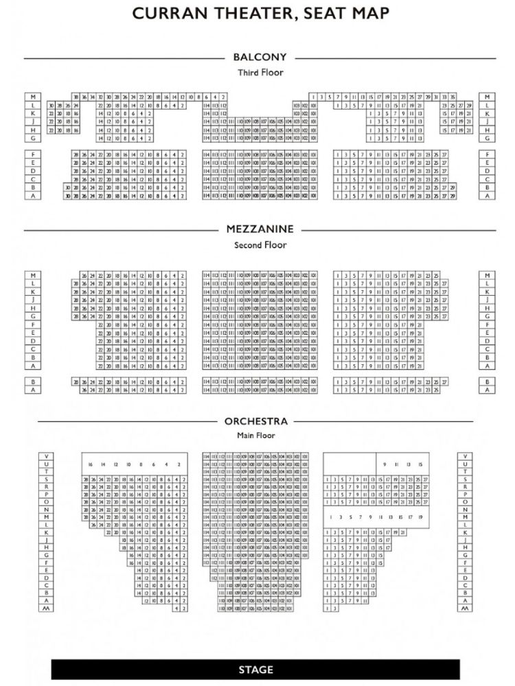 Curran Theater Chart