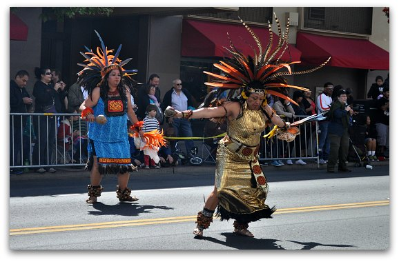 dancers in parade