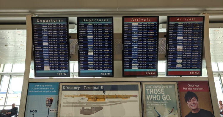 Depatures and Arrivals Board