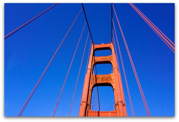 Driving Over the GGB in San Francisco