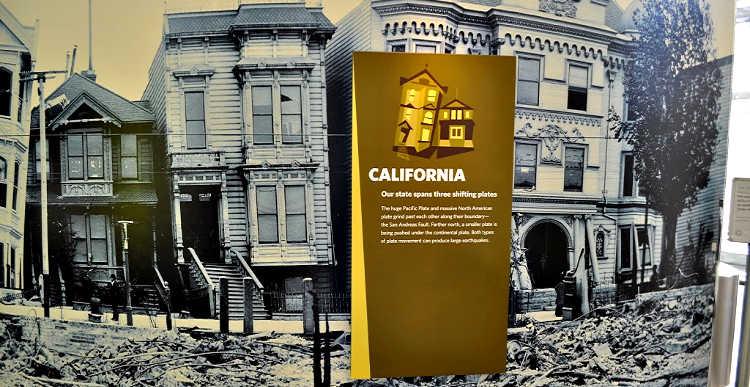 Earthquake at California Academy of Sciences, Exhibit