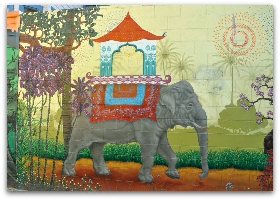 elephant mission mural