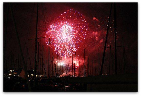 Fireworks over Bay