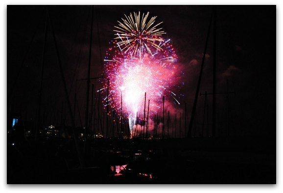 fireworks over pier 39