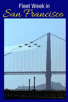 Blue Angels at Fleet Week Over Golden Gate Bridge