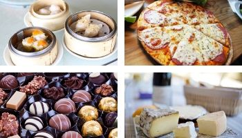 Food Tours with pizza, cheese, desserts and more