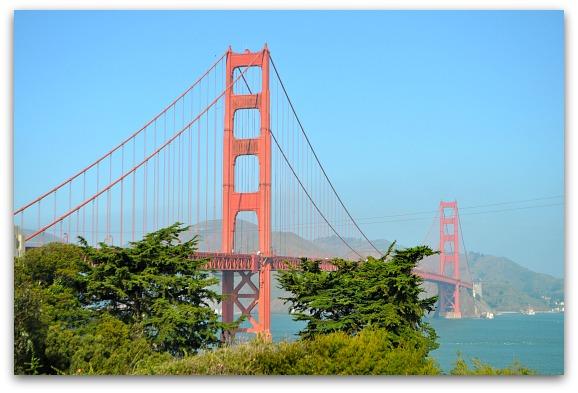 Golden Gate Bridge in the Marina District
