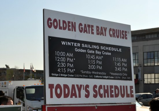 golden gate daily schedule