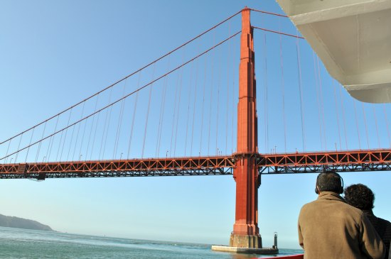 golden gate bridge from sf bay cruise
