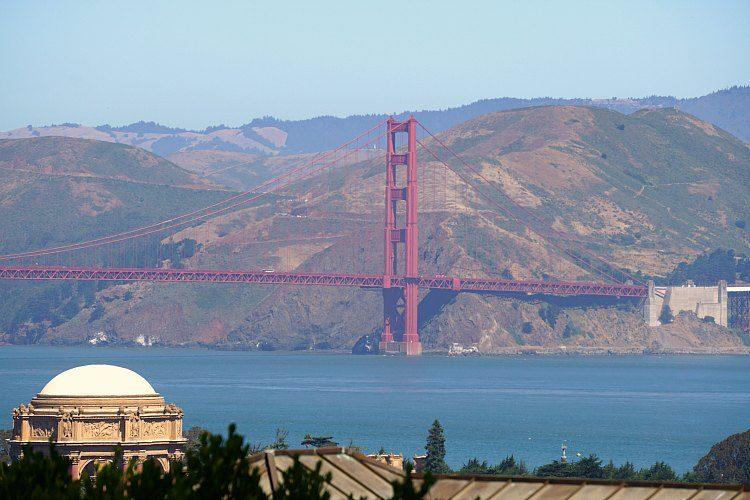 Golden Gate Bridge in July