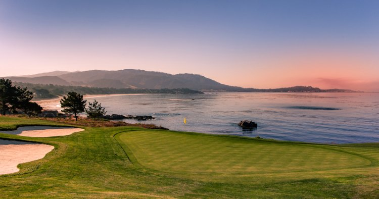 Golfing green at Pebble Beach