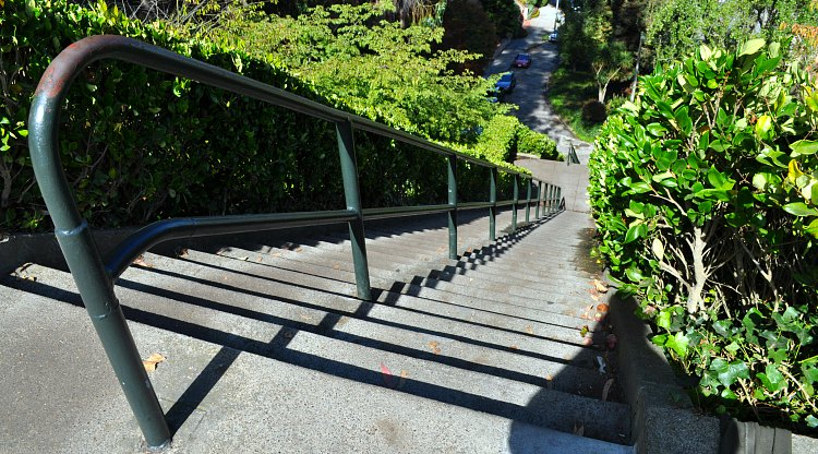 Green Vallejo Stairs
